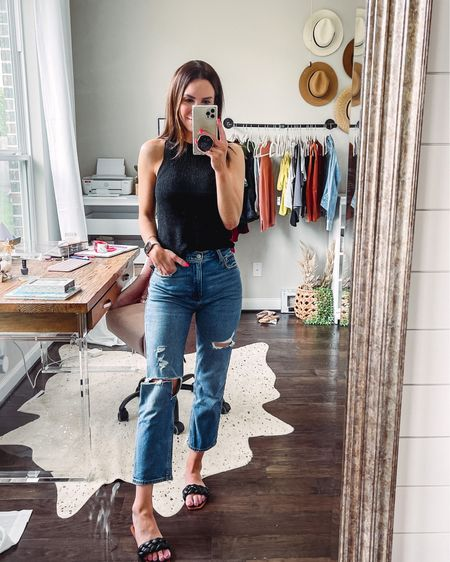 Amazon top - small  Abercrombie jeans (I size down one in the curvy fit) Amazon shoes - I sized up 1/2   http://liketk.it/3g53k #liketkit @liketoknow.it #LTKunder50 #LTKunder100 #LTKstyletip