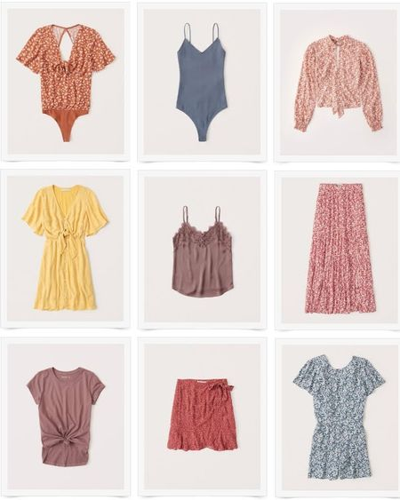 LTK Day 2020 summer to fall transition pieces. Bodysuit, blouse, dress, lace trim cami, maxi skirt, tee, ruffle skirt, romper. Fall colors. http://liketk.it/2SA8Z @liketoknow.it #liketkit #LTKDay #LTKDay2020 #summertofall