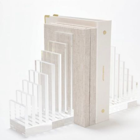 Pretty acrylic bookends (note: save 20% off through the brands direct website which I couldn't directly link to). @liketoknow.it http://liketk.it/3gxbA #liketkit #LTKstyletip #LTKhome #LTKunder50