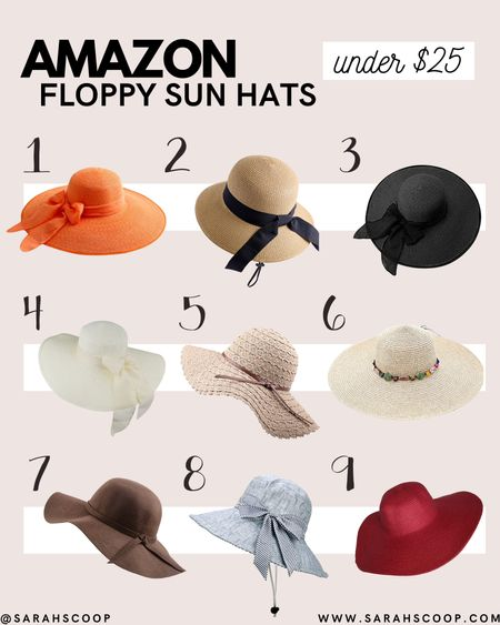 Sun hats are the perfect way to protect you from that hot summer sun! Amazon has a beautiful selection of these hats for a low price! Go take a look! 👒  #sunhats #floppyhats #summer #amazon #under25  #LTKswim #LTKtravel #LTKSeasonal