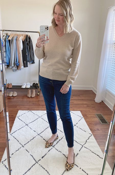 Neutrals with a pop of leopard ✔️  Shop this post on the@shop.ltkapp and follow @classyyettrendy on the app! Everything is also linked here ➡️ https://classyyettrendy.com/instagram-shop/  #capsulewardrobe#smartcasual#whatiamwearing#effortlessstyle#effortlesschic#dailyoutfit#outfitstyle#mystyle#minimaliststyle#elegantstyle#mystylediary#outfitinspirations#dailyfashion#realoutfitgram#wiwtoday#howtostyle#howtowear#parisianstyle#parisiennestyle#parisianchic#simplestyle#simplelook#neutralstyle#neutralaboutit#classicoutfit #classicstyle