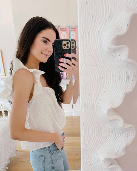 The prettiest white top I've purchased this year (sorry to the others, but this one really takes the cake!) Shop your screenshot of this pic with the LIKEtoKNOW.it shopping app http://liketk.it/3k2W0 #liketkit @liketoknow.it