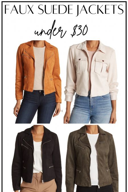 Faux suede jackets #thedailydupes  #LTKsalealert #LTKunder50 #LTKSeasonal