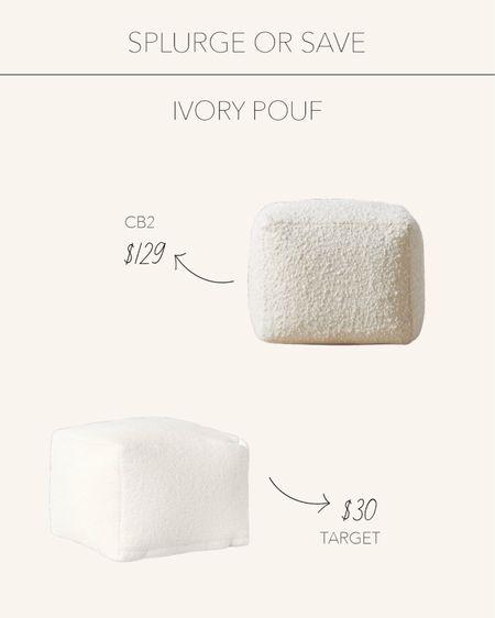 Splurge or Save | Ivory poufs perfect for the kids playroom or the living room 🤍  #LTKhome #LTKunder50 #LTKstyletip