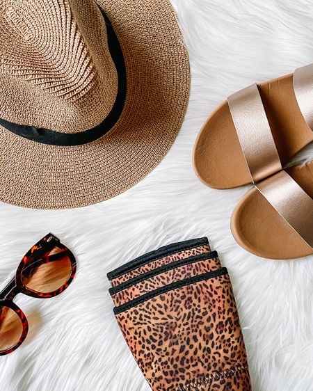 Summer, I'm ready for you!  New hat ✔️  New slides ✔️  Cup koozie ✔️  Classic sun glasses ✔️   Have you added a fun accessory to your summer wardrobe yet?     http://liketk.it/3gUvb #liketkit @liketoknow.it #LTKunder50 #LTKshoecrush #LTKstyletip