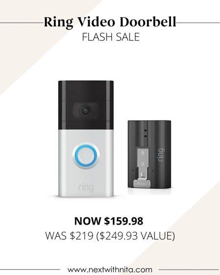Ring camera doorbell on flash sale! Great house warming gift idea too!   #LTKfamily #LTKhome #LTKsalealert