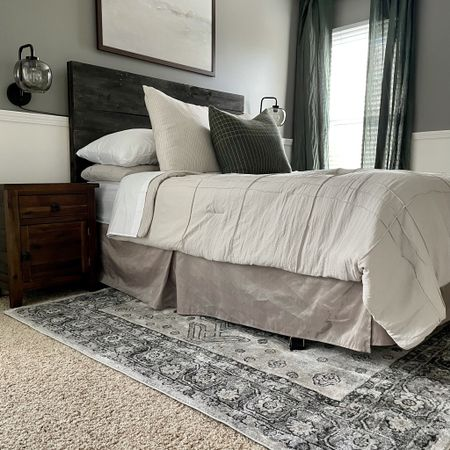 Modern vintage guest bedroom ready to go!   #LTKhome