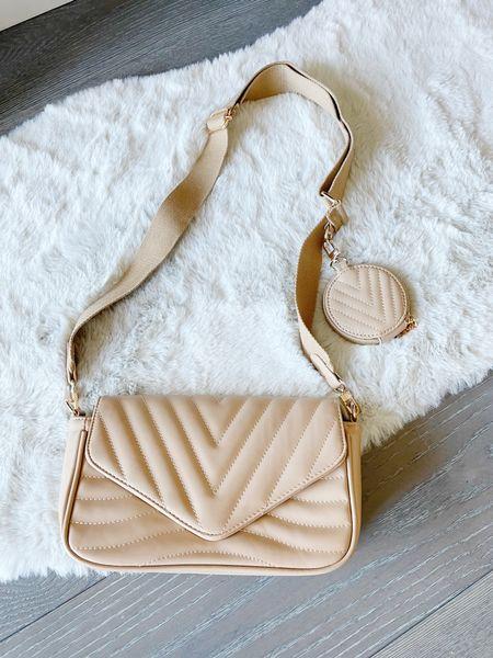 Crossbody hybrid purse  Amazon find Crossbody purse Nude crossbody      #LTKunder50 #LTKitbag #LTKstyletip