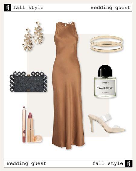 Fall wedding guest dress outfit idea #weddingguest #falldresses   #LTKunder100 #LTKstyletip #LTKwedding