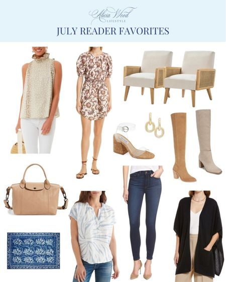 July Reader favorites is heavy on the #NSale items but also has favorites from other retailers YOU love as well! Don't forget that the Nordstrom Sale opens up to all today so shop while there is time and good availability! Check out the list below!   #LTKitbag #LTKshoecrush #LTKsalealert