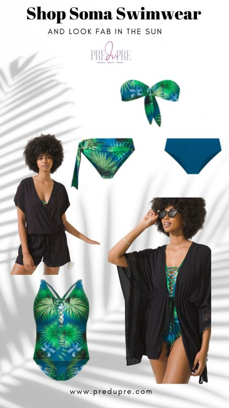 Soma swimwear on sale today 30% off!  Great look at the beach with beautiful palm print in green and blue colors Soma Intimates, Soma, swimsuit, Bikini, one piece, romper, cover-up, pool outfit http://liketk.it/3gWo7 @liketoknow.it #liketkit #LTKsalealert #LTKstyletip #LTKunder50 #LTKunder100 #LTKtravel #LTKswim Download the LIKEtoKNOW.it app to shop this pic via screenshot