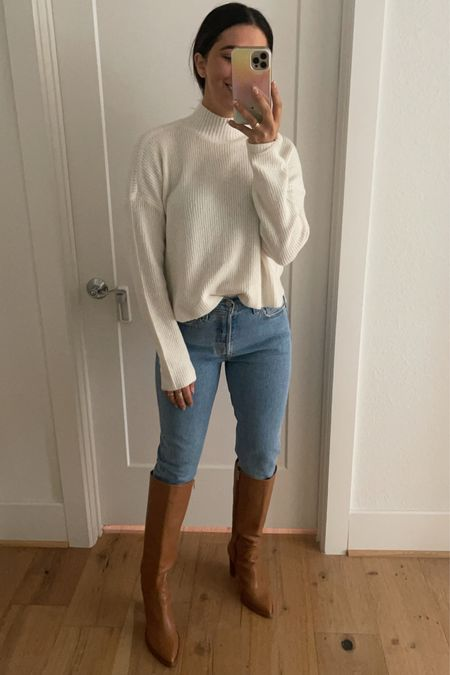 This $35 sweater is such good quality! I like the mock neck & how thin it is.   #LTKstyletip #LTKworkwear #LTKunder50