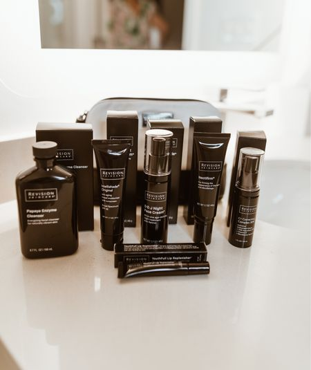 Revision skin care🖤 . Some of the best skin care products I've used!  Seriously, have truly loved each product and I k ow you will too! . #recisionskincare  #LTKbeauty