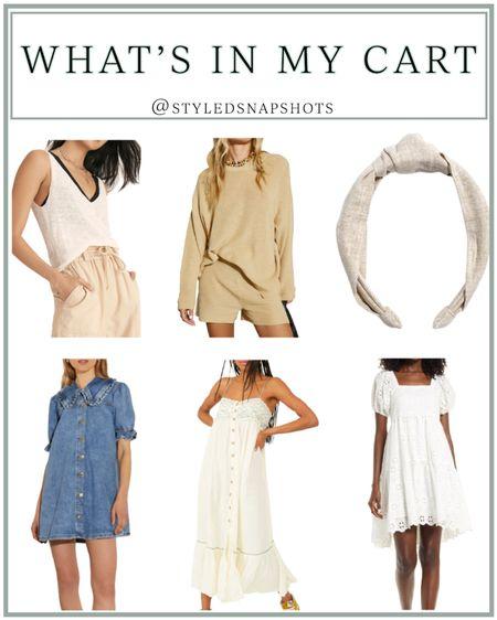 Currently in my cart // summer outfits // summer dress #LTKunder50 #LTKunder100 #LTKbump #liketkit @liketoknow.it http://liketk.it/3hgyN