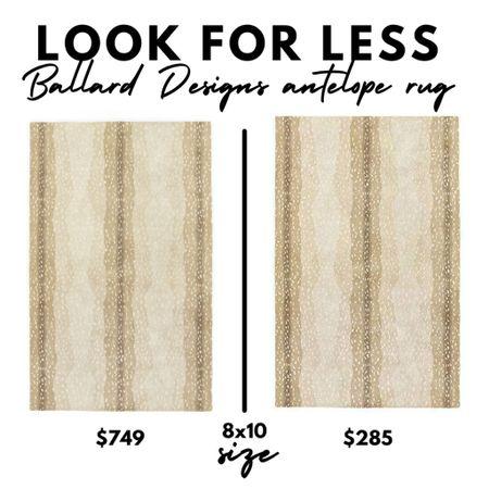 LOOK FOR LESS, Ballard Designs antelope rug, Amazon Home, animal print, 8x10, living room decor   #LTKhome