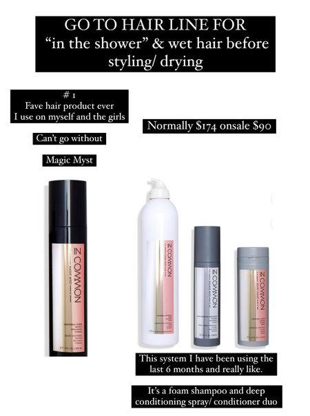 Fave shampoo conditioner and post wash leave in spray.   #LTKbeauty #LTKunder100 #LTKunder50