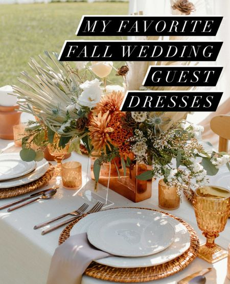 My favorite fall wedding guest dresses!  Weddings, style, fall style, evening  #LTKstyletip #LTKwedding #LTKSeasonal