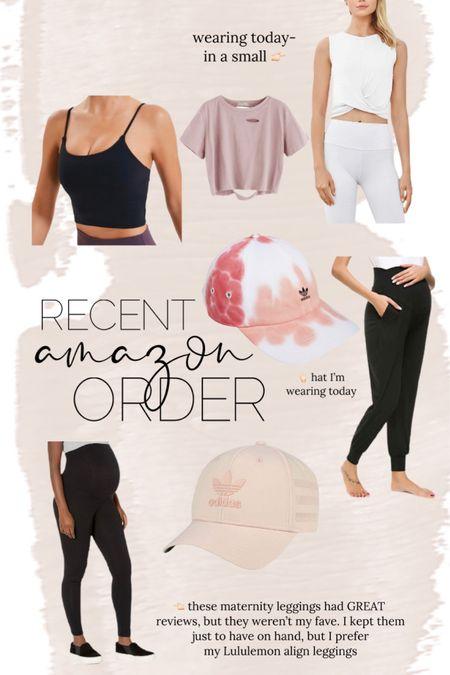 Recent amazon order // wearing white twist tank & adidas hat today! // http://liketk.it/3hWDk @liketoknow.it #liketkit #LTKunder50 #LTKbump #LTKfit