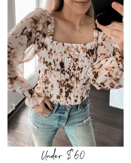Floral top, fall outfit  #LTKsalealert #LTKunder50 #LTKSale   http://liketk.it/3o4Pk @liketoknow.it #liketkit
