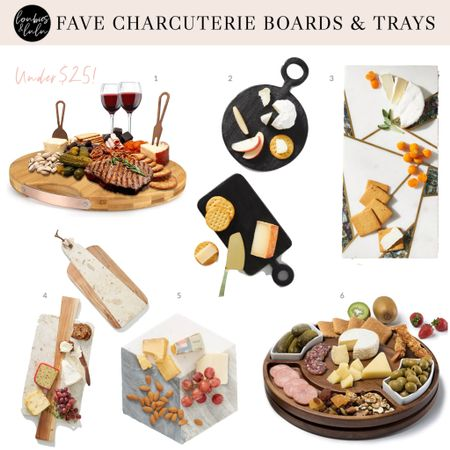 Favorite Charcuterie Boards and Serving Trays, including an awesome under $25 find!   #LTKGiftGuide #LTKSeasonal #LTKHoliday