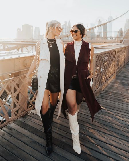 Flash SALE! Take 50% OFF both trench coat styles that I designed with @gibsonlook: the sleeveless trench coat & the lightweight trench coat! They're so versatile for fall & both can be worn as dresses. The long sleeve jacket is super lightweight with plenty of flow! Flash sale ends at 11:59 pm! … Sizing: I would go TTS in both pieces. I'm wearing the small in the lightweight trench jacket so I can wear it as a dress and I took a size XS in the sleeveless trench duster!  … Follow me in the @shop.LTK app to shop and take 15% OFF my other @gibsonlook pieces with code: HAUTE15 #nyc #ltkunder100 #nyc #newyork #brooklynbridge #fallfashion #fallstyle    #LTKshoecrush #LTKstyletip #LTKsalealert