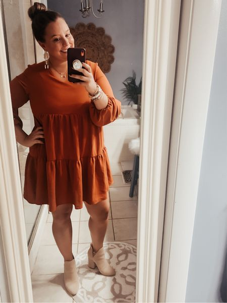 This is the cutest dress you could ever find on Amazon. It's comfy, cute, and so affordable! There are SO many colors and patterns (I have 3! 😬) Dress- Amazon Boots- Steve Madden (from a few years ago but linked some dupes!)    #LTKSeasonal #LTKcurves #LTKstyletip
