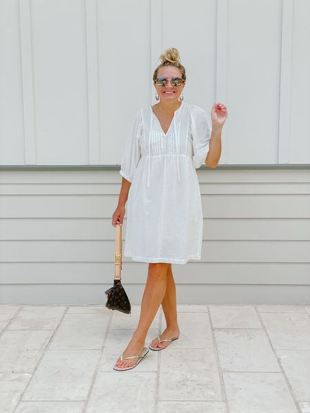 Can't get over how pretty this puff sleeve white dress is for summer! Last day to grab it on sale!   #LTKsalealert #LTKstyletip #LTKunder50