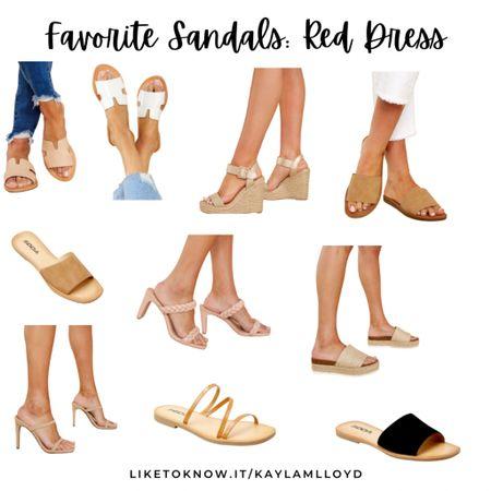 Favorite summer sandals from Red Dress // summer style // sandals http://liketk.it/3fD7H @liketoknow.it #liketkit #LTKstyletip #LTKshoecrush #LTKsalealert