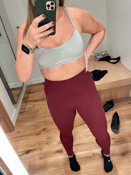 As an avid lululemon Align Pant fan, idk why it took me so long to try on these Nulu Unlimit Tights. Y'all, they're amazing; the stitching at the front just gives it a little something special! My normal Align size was perfect. Color: Red Merlot   #LTKfit #LTKstyletip #LTKunder100