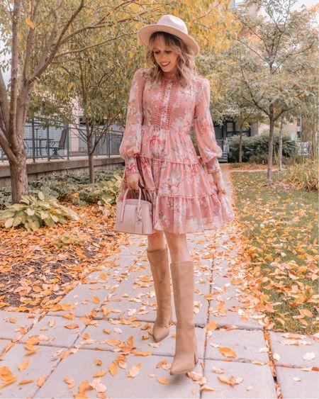 Fall dress, fall outfit, fall ootd, fall boots, knee high boots, fall boots, fall shoes   #LTKsalealert #LTKshoecrush #LTKSeasonal