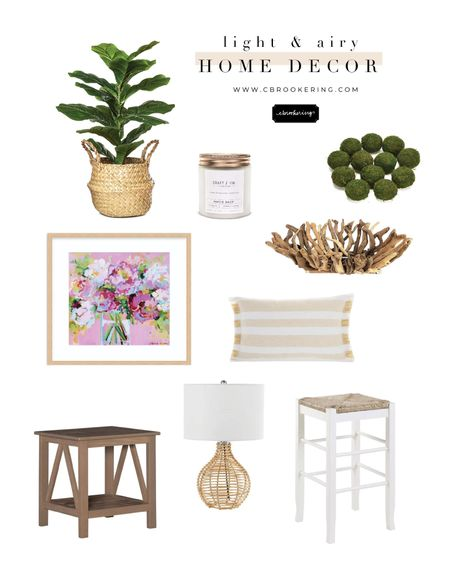 Everything you need for a home decor refresh! I love all of these pieces that make a room feel light, airy, and welcoming! This floral print can be found on www.cbrookering.com and is the perfect way to add a pop of color to your room! @liketoknow.it #liketkit http://liketk.it/3gKFC