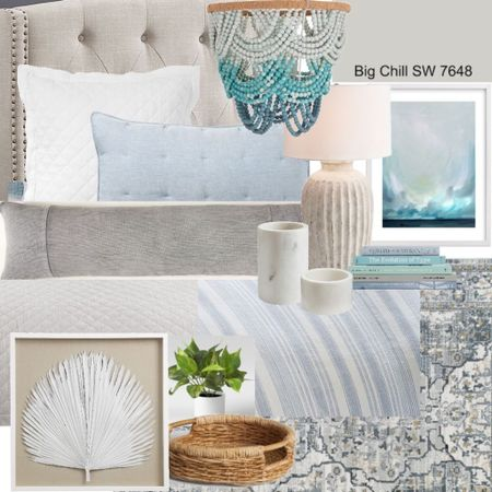 This coastal bedroom is cozy and stylish and doesn't break the bank! Get the look here 👇🏼  #LTKhome #LTKunder50 #LTKunder100