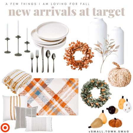 Give me all the fall things and all of the new fall Target decor 🍂🍁  Like what you see?! Follow me on IG for more + a glimpse into real motherhood life @small.town.swag . . . . . . . Fall decor // Halloween decor // Target fall // Target Halloween // Target finds // Target deals // Target style // pumpkins // vase // pottery // flatware // silverware // candles // pillows // pillow // blanket // throw blanket // wreath // plates // kitchen // dining // rugs // rug // florals // greenery   #LTKhome #LTKSeasonal #LTKunder50