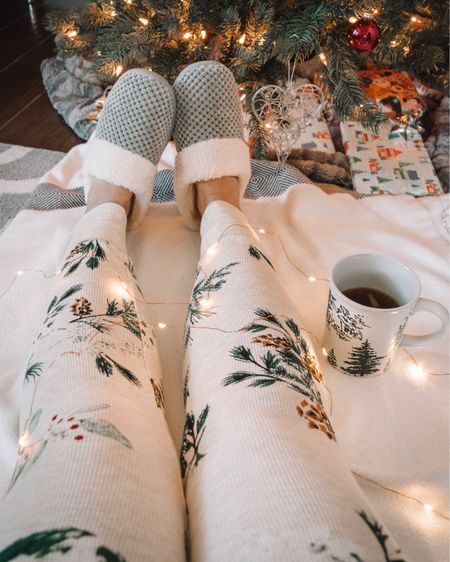 """🎶 Cozy slippers and comfy pajamas Hot apple cider while wrapping presents  A sleeping toddler and quiet me time  These are a few of my favorite things 🎶   Shop my cozy essentials by following me on the @liketoknow.it app or click the """"Shop My Latest Post"""" tab in my bio. ✨ http://liketk.it/2yP7U #liketkit #LTKholidaystyle #LTKholidayathome #LTKholidaywishlist #LTKholidaygiftguide #LTKsalealert #LTKunder50"""