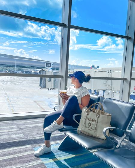 Travel style, travel, airport outfit, airport style, travel, Spanx leggings  #LTKstyletip #LTKitbag #LTKtravel