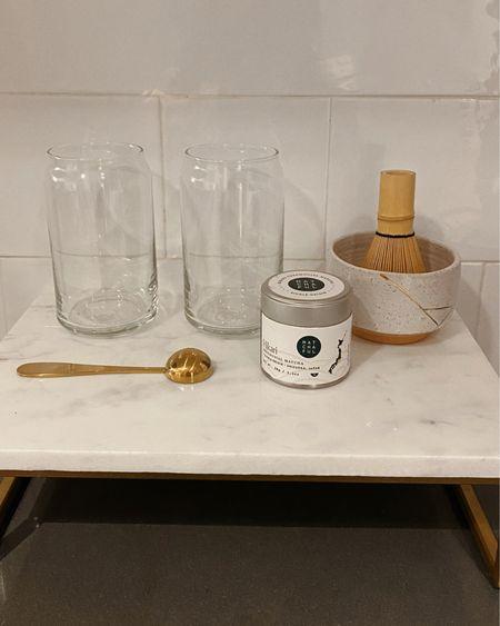 — MATCHA STATION Matcha set — Matchaful Marble stand — Target Glasses — Crate & Barrel  http://liketk.it/36PWm #liketkit @liketoknow.it