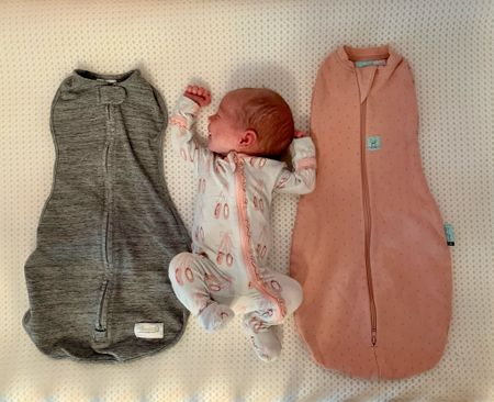 I shared a review of swaddles on my Instagram story today including 4 that didn't work for us and our two favorites pictured here!  #LTKbaby