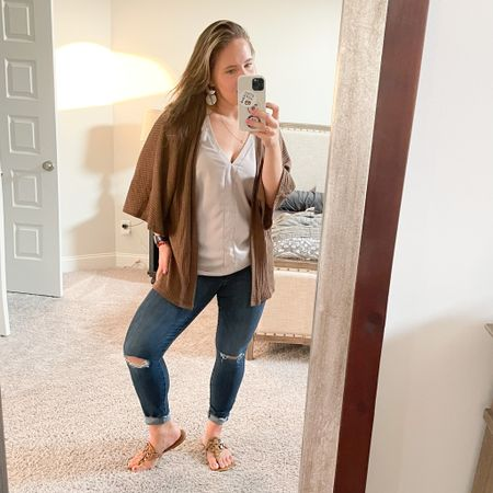 Easy Amazon tops great for summer and in multiple colors! Cardigan is under $25! Great fall transition piece with the short sleeve  #LTKunder50 #LTKshoecrush #LTKstyletip