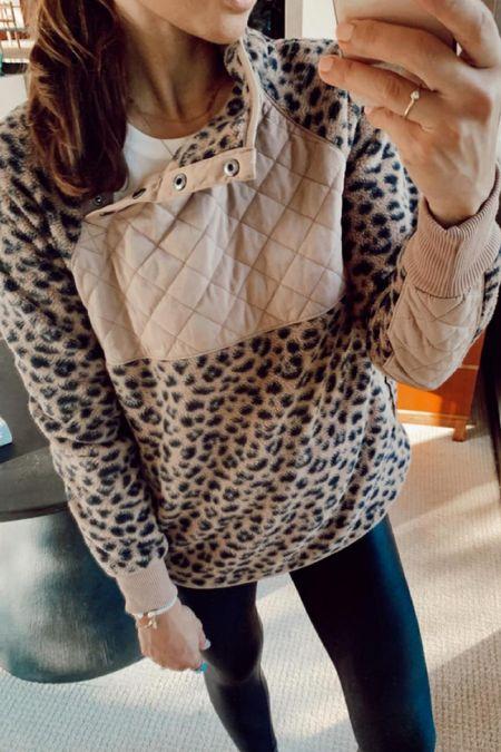 Abercrombie sale in LTK app! Wearing a small in the fleece and Spanx   #LTKSale