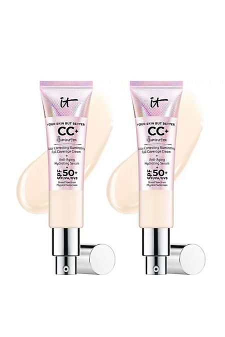 It Cosmetics CC cream on sale 2 for $45 plus get $10 off with promo codes: HOLIDAY or HELLO10   #LTKHoliday #LTKbeauty #LTKGiftGuide