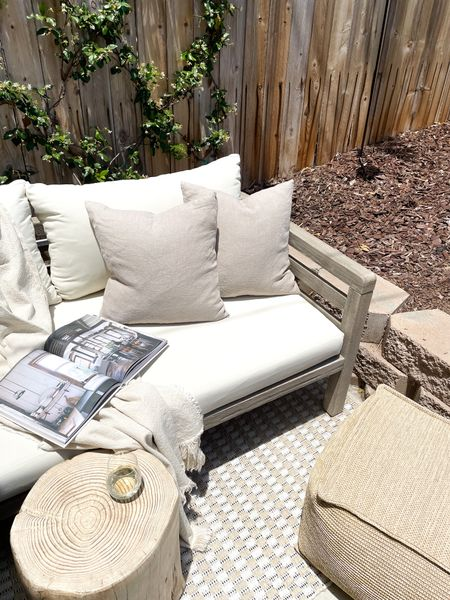 A roundup of some of my favorite neutral patio decor! An outdoor sofa, rug, side table, and a few accessories can turn a boring space into an outdoor oasis. Some of these items sell out quick, so be sure to sign up for restock notifications to snag them!  #LTKhome