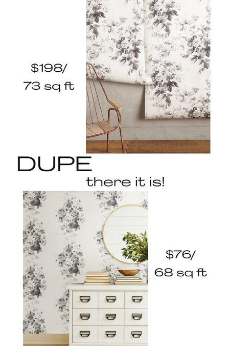 Moody floral wallpaper, neutral wallpaper, neutral floral wallpaper   #LTKunder100 #LTKhome