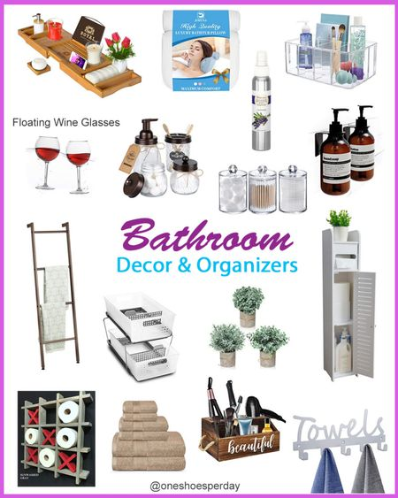 Amazon Home Bathroom Home Decor          http://liketk.it/3pUKh @liketoknow.it #liketkit #LTKGiftGuide #LTKHoliday #LTKSeasonal #LTKsalealert #LTKhome #LTKunder50 Home Decor  