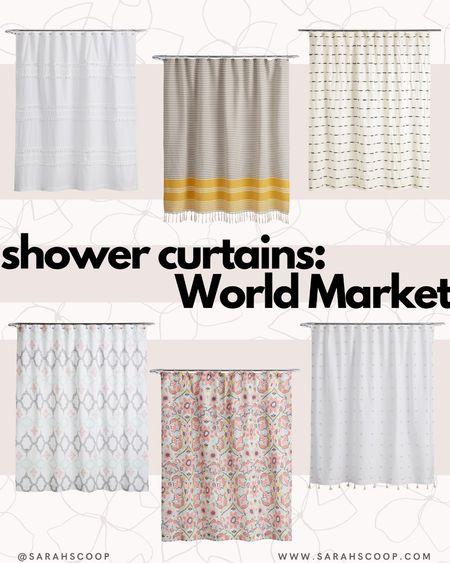 Need a new shower curtain? We got you! Super stylish curtains under $50!  #shower #home #ltk #curtains #bath #worldmarket