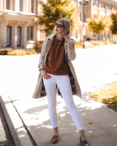 white jeans & loafers   http://liketk.it/2FE9L #liketkit @liketoknow.it #LTKworkwear #LTKshoecrush