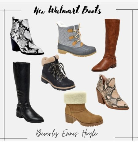 Walmart Boots 👢 Make great gifts for her! 🎄  Fall boots, winter boots, gift ideas, gifts for her, Walmart fashion, Walmart boots, time and tru   #LTKshoecrush #LTKunder50 #LTKGiftGuide