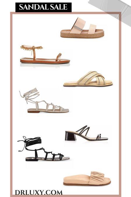Sandal sale  Summer outfit Vacation outfit    #LTKshoecrush #LTKunder100 #LTKsalealert