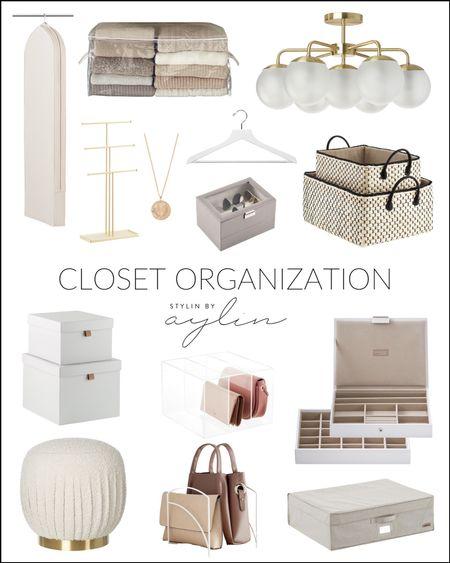 Closet Organization, Storage Totes, Lighting #StylinAylinHome  #LTKstyletip #LTKhome