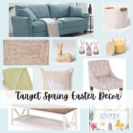 Spring decorating inspiration. Beautiful spring/Easter living room design. From Target.   #LTKhome #LTKSeasonal #LTKstyletip