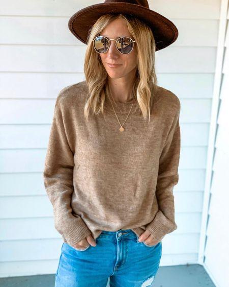 Amazon sweater ✨ amazon prime ✨ amazon fashion ✨ sweaters ✨ fall sweater ✨ fall hat ✨ felt hat ✨ wide brim hat ✨ necklace ✨ gold necklaces ✨ jewelry ✨ amazon sunglasses ✨ jeans ✨ fall outfits ✨ fall outfit Shop my daily looks by following me on the LIKEtoKNOW.it shopping app http://liketk.it/2YurJ #liketkit @liketoknow.it #LTKunder50 #LTKworkwear #LTKsalealert #ltkstyletip #ltkfamily
